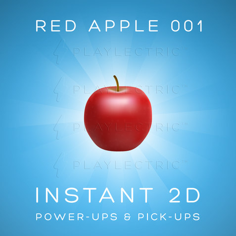 Instant 2D - Power-Ups & Pick-Ups - Glow - Red Apple 001