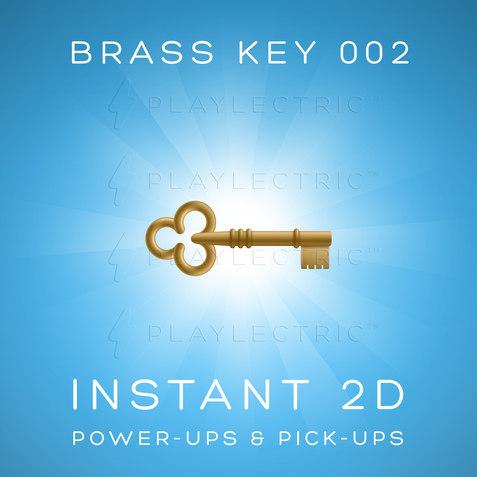 Instant 2D - Power-Ups & Pick-Ups - Glow - Brass Key 002