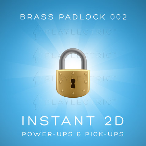 Instant 2D - Power-Ups & Pick-Ups - Glow - Brass Padlock 002