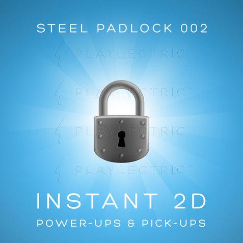 Instant 2D - Power-Ups & Pick-Ups - Glow - Steel Padlock 002