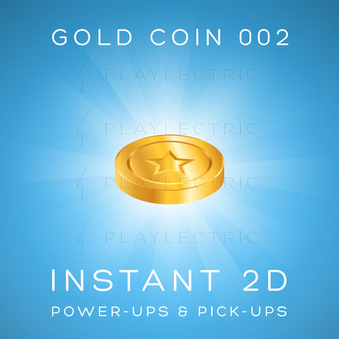 Instant 2D - Power-Ups & Pick-Ups - Glow - Gold Coin 002