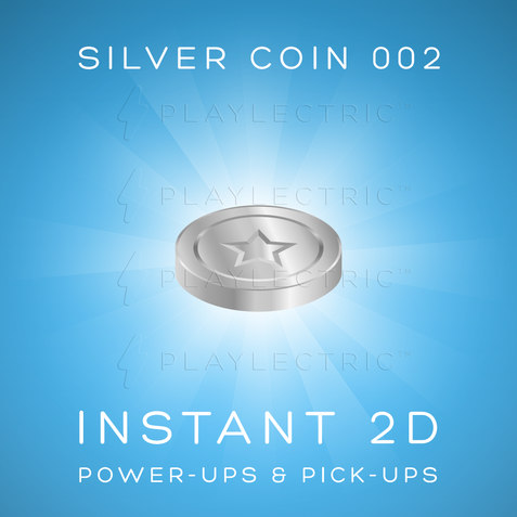 Instant 2D - Power-Ups & Pick-Ups - Glow - Silver Coin 002