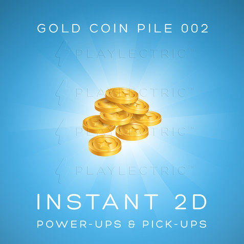 Instant 2D - Power-Ups & Pick-Ups - Glow - Gold Coin Pile 002