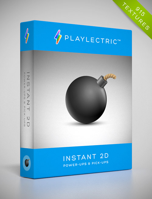 Instant 2D - Power-Ups & Pick-Ups by Playlectric: Lovingly handcrafted textures for your games.