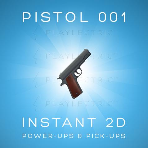 Instant 2D - Power-Ups & Pick-Ups - Glow - Pistol 001