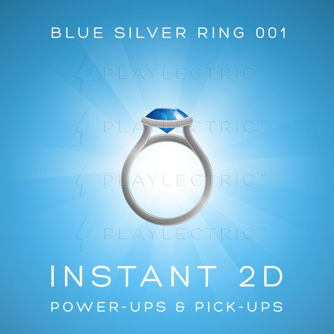 Instant 2D - Power-Ups & Pick-Ups - Glow - Blue Silver Ring 001