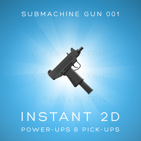 Instant 2D - Power-Ups & Pick-Ups - Glow - SubMachineGun 001