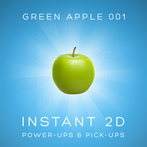 Instant 2D - Power-Ups & Pick-Ups - Glow - Green Apple 001