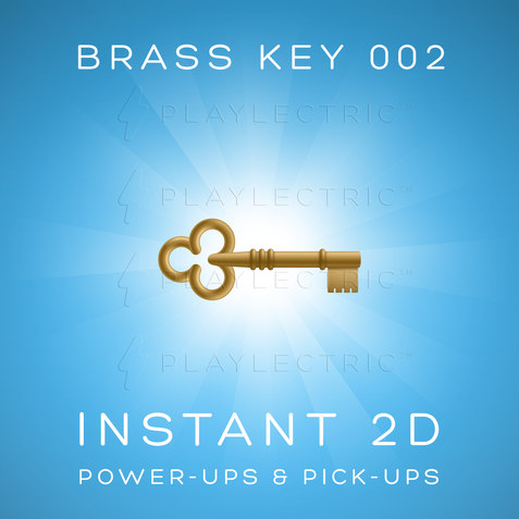 Instant 2D - Power-Ups & Pick-Ups - Glow - Brass Key 002