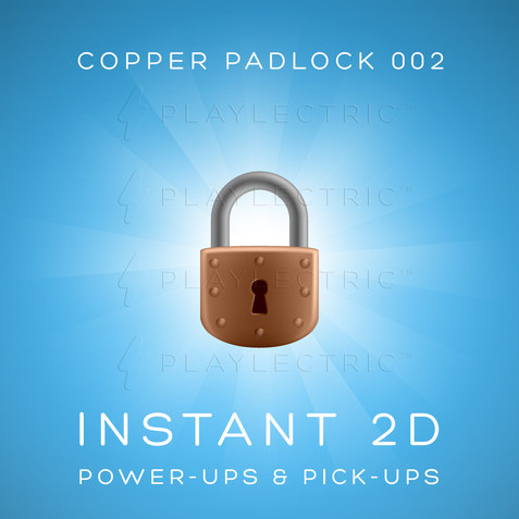 Instant 2D - Power-Ups & Pick-Ups - Glow - Copper Padlock 002