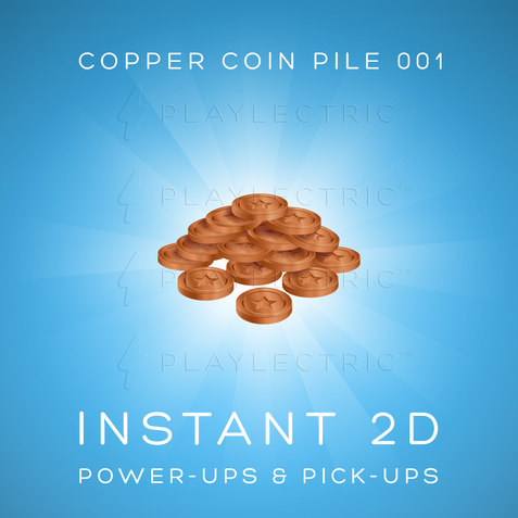 Instant 2D - Power-Ups & Pick-Ups - Glow - Copper Coin Pile 001
