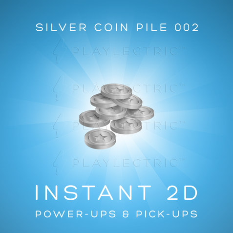 Instant 2D - Power-Ups & Pick-Ups - Glow - Silver Coin Pile 002