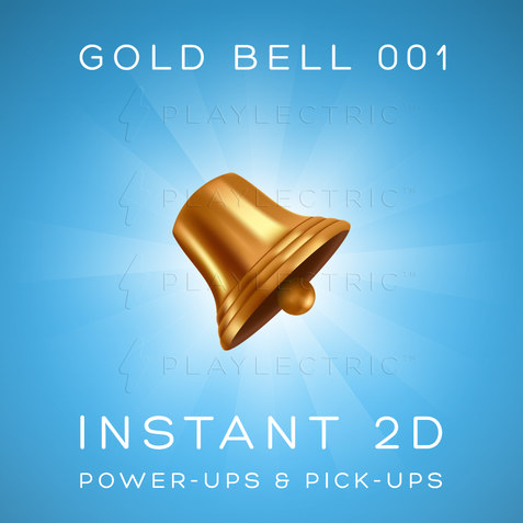 Instant 2D - Power-Ups & Pick-Ups - Glow - Gold Bell 001